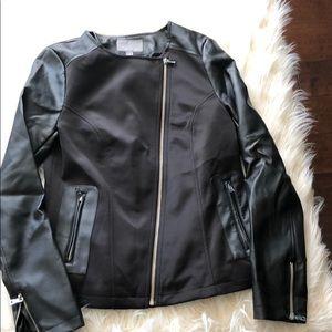 Black motorcycle style jacket
